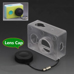 Xiaomi Yi Case Transparent Protective Case For Xiaomi Yi Xiaoyi Action Camera Sports Box + Lens Cap