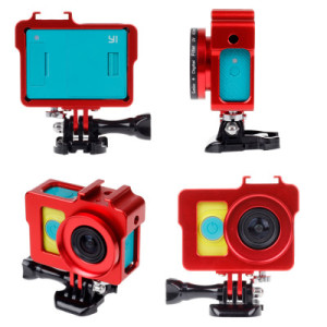 Xiaomi YI Aluminium Shockproof Frame Case Accessories Protective Alloy + 40.5mm UV Filter + Lens cap for Xiaomi Camera