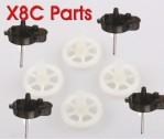 SYMA X8 Main gear + 4Pcs Main Stand for SYMA X8C X8W X8G 6Axis 4CH 2.4G RC UFO Quadcopter Spare Parts
