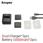 Kingma Replacement 2 x 1010mAh Batteries + Dual-Slot Battery Charger Set for Xiaomi