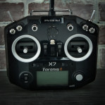 FrSky ACCST Taranis Q X7 2.4GHz 16CH Transmitter Remote Control HITAM