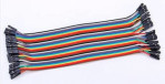 Kabel Jumper Pelangi Male To Female 40 Pcs 20 Cm