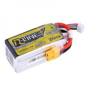 Battery Batre Baterai Tattu HV R-Line V2 100C 1300mAh 4S1P