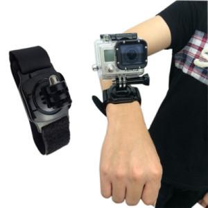 Velcro wrist band 360 degree rotation with lock for GoPro/SJCAM