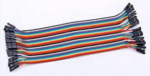 Kabel Jumper Pelangi Male To Female 40 Pcs 20 Cm